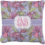Orchids Faux-Linen Throw Pillow (Personalized)
