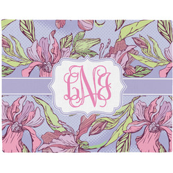 Orchids Woven Fabric Placemat - Twill w/ Monogram
