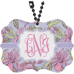 Orchids Rear View Mirror Decor (Personalized)
