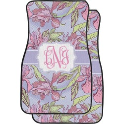 Orchids Car Floor Mats (Front Seat) (Personalized)