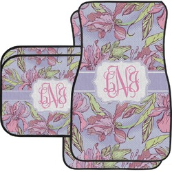 Orchids Car Floor Mats (Personalized)