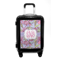 Orchids Carry On Hard Shell Suitcase (Personalized)