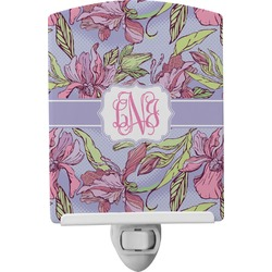 Orchids Ceramic Night Light (Personalized)