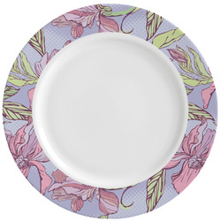 Orchids Ceramic Dinner Plates (Set of 4) (Personalized)