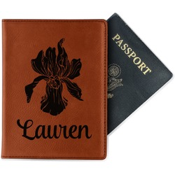 Orchids Leatherette Passport Holder - Single Sided (Personalized)