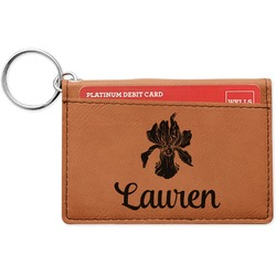 Orchids Leatherette Keychain ID Holder (Personalized)