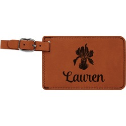 Orchids Leatherette Luggage Tag (Personalized)