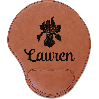 Orchids Leatherette Mouse Pad with Wrist Support (Personalized)