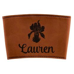 Orchids Leatherette Mug Sleeve (Personalized)