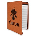 Orchids Leatherette Zipper Portfolio with Notepad (Personalized)