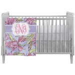 Orchids Crib Comforter / Quilt (Personalized)