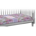 Orchids Crib Fitted Sheet (Personalized)