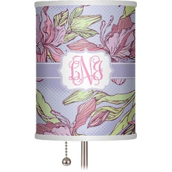 """Orchids 7"""" Drum Lamp Shade (Personalized)"""