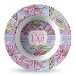 Orchids Plastic Bowl - Microwave Safe - Composite Polymer (Personalized)