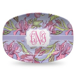 Orchids Plastic Platter - Microwave & Oven Safe Composite Polymer (Personalized)
