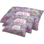 Orchids Dog Bed w/ Monogram