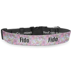 Orchids Deluxe Dog Collar (Personalized)
