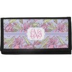 Orchids Canvas Checkbook Cover (Personalized)