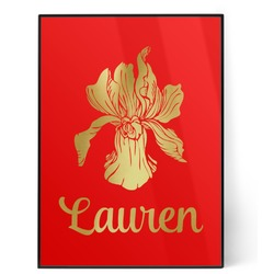Orchids 5x7 Red Foil Print (Personalized)