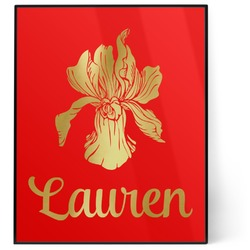 Orchids 8x10 Foil Wall Art - Red (Personalized)