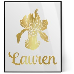 Orchids 8x10 Foil Wall Art - White (Personalized)