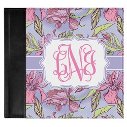 Orchids Genuine Leather Baby Memory Book (Personalized)