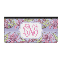 Orchids Genuine Leather Checkbook Cover (Personalized)