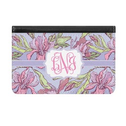 Orchids Genuine Leather ID & Card Wallet - Slim Style (Personalized)