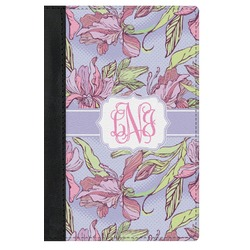 Orchids Genuine Leather Passport Cover (Personalized)