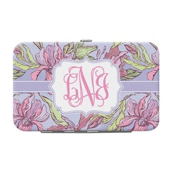 Orchids Genuine Leather Small Framed Wallet (Personalized)