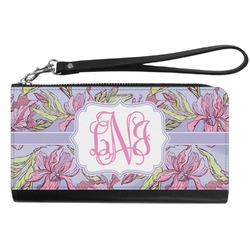 Orchids Genuine Leather Smartphone Wrist Wallet (Personalized)