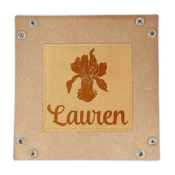 Orchids Genuine Leather Valet Tray (Personalized)
