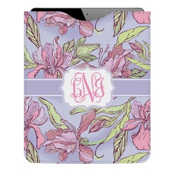 Orchids Genuine Leather iPad Sleeve (Personalized)