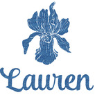 Orchids Glitter Sticker Decal - Custom Sized (Personalized)