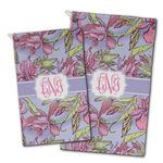 Orchids Golf Towel - Full Print w/ Monogram