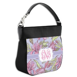 Orchids Hobo Purse w/ Genuine Leather Trim (Personalized)