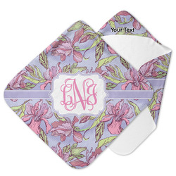 Orchids Hooded Baby Towel (Personalized)