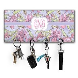 Orchids Key Hanger w/ 4 Hooks (Personalized)