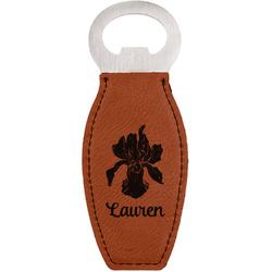 Orchids Leatherette Bottle Opener (Personalized)