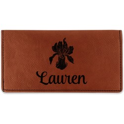 Orchids Leatherette Checkbook Holder (Personalized)