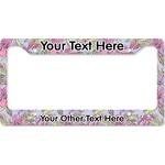 Orchids License Plate Frame (Personalized)