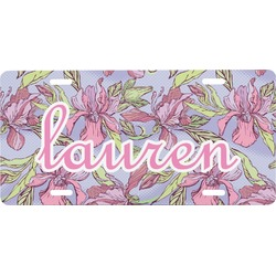 Orchids Front License Plate (Personalized)