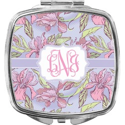 Orchids Compact Makeup Mirror (Personalized)