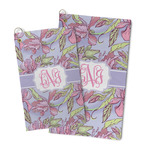 Orchids Microfiber Golf Towel (Personalized)