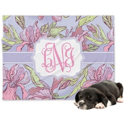 Orchids Minky Dog Blanket (Personalized)