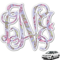 Orchids Monogram Car Decal (Personalized)