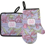 Orchids Oven Mitt & Pot Holder (Personalized)