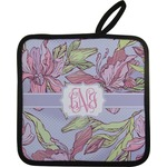 Orchids Pot Holder w/ Monogram