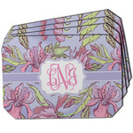 Orchids Dining Table Mat - Octagon w/ Monogram