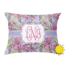 Orchids Outdoor Throw Pillow (Rectangular) (Personalized)
